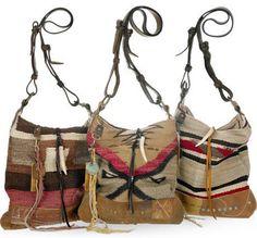 Ralph Lauren Vintage Blanket Hobo Bags
