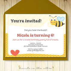 Pool party invitation card editable template party printable summer bumble bee party invitation template editable invite bumblebee invitation invitation card diy party printable invite custom stopboris Image collections