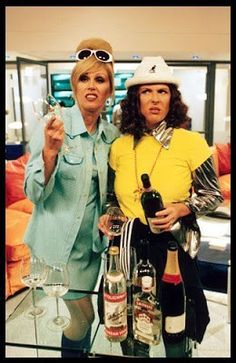 Myth: PRs are more than a bit like Eddie and Patsy from Ab Fab – it's all about lunches and pretentious arse kissing Jennifer Saunders, Patsy And Eddie, Edina Monsoon, Bbc, Patsy Stone, Ella Enchanted, Joanna Lumley, All Things Fabulous, British Comedy