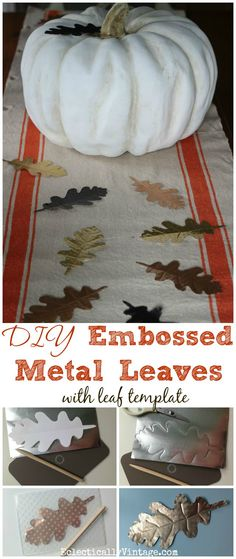 DIY Embossed Metal L