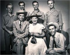 Grand Old Opry stars Hank Williams, Minnie Pearl and others...