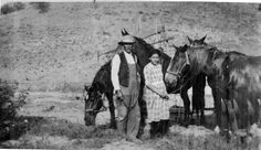 Martin Rocha and his niece, Inez Rocha, taken at the Calabasas Ranch, 1919. Martin Rocha was the son of Guadalupe Valdez.  Leonis Adobe Museum and Plummer House. San Fernando Valley History Digital Library.