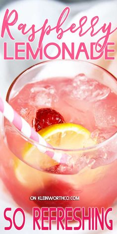Cool & refreshing Raspberry Lemonade is simple to make & delicious. Perfect for summer parties or when you need a cool down while chillin' poolside. Frozen Drink Recipes, Drinks Alcohol Recipes, Beer Recipes, Non Alcoholic Drinks, Cocktail Recipes, Recipes Dinner, Easy Recipes, Vegan Recipes, Cocktails