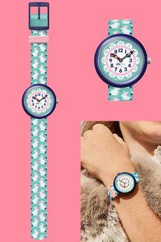 Telling Time, Plastic Case, Swatch, Color Schemes, Bracelet Watch, Rabbit, Bunny, Turquoise, Colour