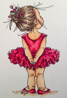 Illustration by Mo Manning Sarah Kay, Mo Manning, Dibujos Cute, Digi Stamps, Cute Illustration, Ballerina Illustration, Copic, Cute Drawings, Dancing Drawings