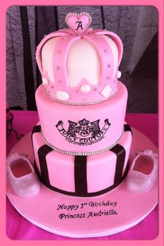 My Princesses Juicy Couture 1st Birthday Cake