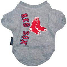 Boston Red Sox Dog Shirt- Officially Licensed MLB Pet Clothes at Glamourmutt.com