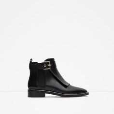 My Style… LEATHER ANKLE BOOT WITH FRINGES from Zara
