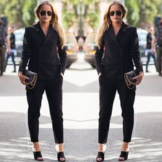 All Fancy Black #allblack #blazer #mule