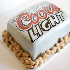 Coors Light Groom Cake - Coors Light beer on the outside, a decadent chocolate mocha groom's cake on the inside!