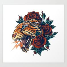 Buy Ornate Leopard (Color Version) Art Print by bioworkz. Worldwide shipping available at Society6.com. Just one of millions of high quality products available.
