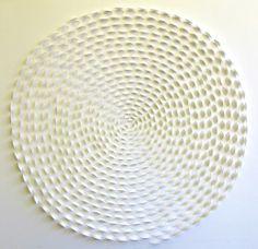 """Spiral Set - Three  30"""" x 30"""" Hand cut paper, 2001 cuts"""