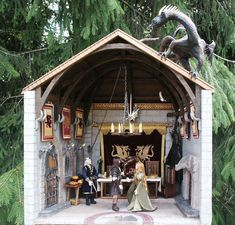 Dragon-themed Medieval Castle Dining Hall