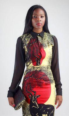 De la Mozambique, nous connaissions jusque là le créateur Taibo Bacar. Et bien, en voici un que nous venons avec plaisir de découvrir: Nivaldo Thierry, jeune, talentueux et créatif. Notre attention s'est portée sur le créateur avec collection Eté 2014 African Roots. Réalisé avec un imprimé couleur crème avec des motifs rouge et noir représentant ...
