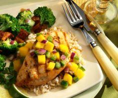 Fried Fish with Mango Salsa #mango #Food #Salsa #Recipes #Fried-Fish #Mango-Salsa