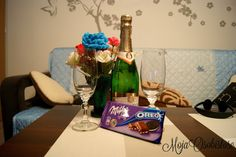 szampan i czekolada