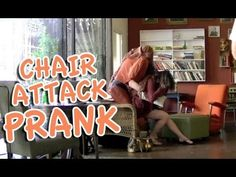 The popular Human Chair Attack Prank seen on NBCs The Today Show!  http://amzn.to/11QPLz7 - Get our magic/pranks/dating book! Share with friends! Magician Rich Ferguson is up to his pranks mixed with magic again as the hidden man in the chair prank! We had fun filming this at Kreuzberg Cafe in San Luis Obispo (http://kreuzbergcalifornia.com) an...