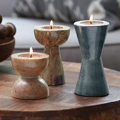 Product image of Brighter Home™ by PartyLite Soapstone Tealight Holder Set