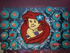 My little mermaid cake.