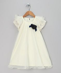 Take a look at this Ivory Knit Crochet Dress - Infant, Toddler & Girls by Chic Charlee on #zulily today!