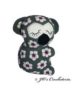 African Flower Koala crochet pattern by Jo's Crocheteria #crochet #crochetpattern #crochetafricanflowers