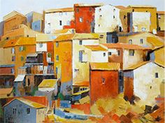 Michele Carer Urban Painting, Building, How To Paint, Italy, Contemporary, Buildings, Construction