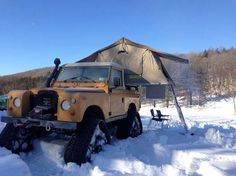 SERIE 3 Red Barn Engineering brings its fabulous tracked Land Rover to the Vermont Overland Trophy winter event!
