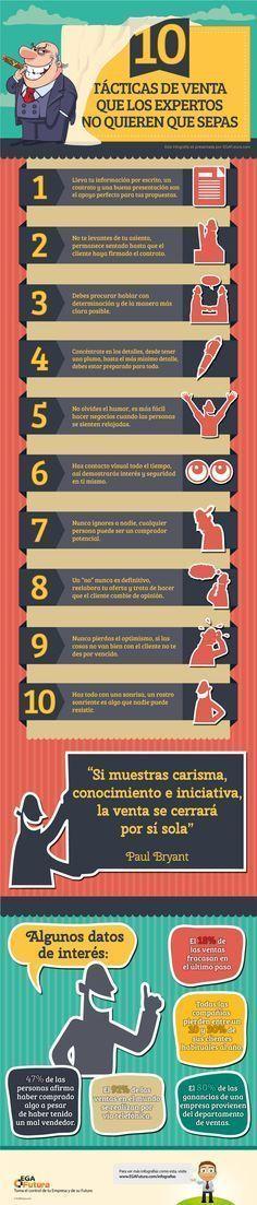 10 tácticas de venta expertos