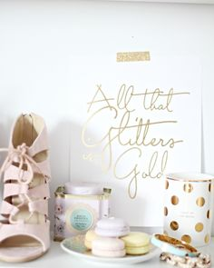 All that Glitters is Gold // Gold Foil Print