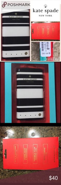 ♠️KATE SPADE♠️ New in box,discounted shipping 1 hr ♠️KATE SPADE♠️ New in box, external battery charge. This is not a phone case it is a battery pack- see photo with description on the back of the box. kate spade Accessories Phone Cases