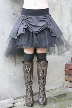 365daysofhalloween: This shade of grey always makes me think of chilly fall and a ghostly feel. Rainy day… tutu in storm grey with teired tulle by tahnaya on etsy
