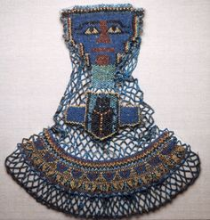 Egyptian Beaded Mummy Decoration, Saite Period, Dynasty 26 (c.) Beads, fiber x 40 x cm x 15 x 1 in.) Gift of Charles L. Hutchinson and Henry H. Ancient Romans, Ancient Art, Ancient Egypt, Ancient History, Long Pearl Necklaces, Gold Necklace, Byzantine Art, Egyptian Art, Egyptian Things