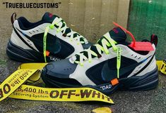 Nike Air Monarch Off-White Custom by True Blue - Nike Monarch Customs Nike Air Monarch, Blue C, Nike Air Shoes, Dad Shoes, Blue Nike, Behind The Scenes, Off White, Kicks, Dads