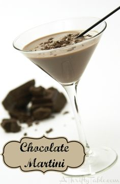 Chocolate Martini 1½ shots Godiva Chocolate Liqueur 1½ shots Creme De Cacao ½ shot Vodka 2½ shots Half And Half Instructions Dust chilled martini glass with cocoa powder or pre-dip the glass in chocolate syrup. Add all ingredients to a cocktail mixer and shake well. Pour into a chilled martini glass. Sprinkle chocolate shavings on top or use a Hershey's Kiss for a garnish.