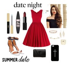 """RED"" by saebae on Polyvore featuring mode, Givenchy, Cartier, Blue Nile, Accessorize, Jennifer Fisher, Yves Saint Laurent, NARS Cosmetics, Maybelline et Casetify"