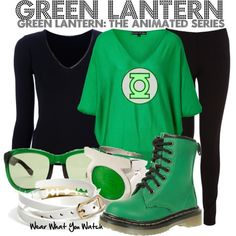 Inspired by Josh Keaton (voice) as Hal Jordan/Green Lantern on Green Lantern: The Animated Series. Nerd Outfits, Fandom Outfits, Fashion Outfits, Modern Outfits, Stylish Outfits, Cool Outfits, Casual Cosplay, Cosplay Outfits, Fandom Fashion