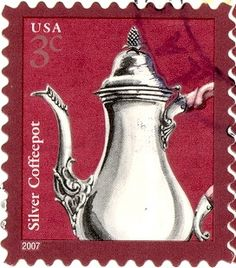 USA - Stamp, 2007 3c Coffeepot by 9teen87's Postcards, via Flickr