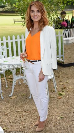 Summer-ready: Kara Tointon looked elegant at the BNP Paribas Tennis Classic VIP Receptionin London on Tuesday
