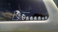 My starwars family car decals
