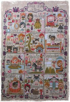 Once Upon a Time Sampler - The Frosted Pumpkin Stitchery