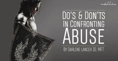 Do's And Don'ts In Confronting Abuse