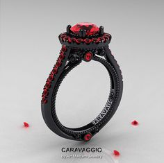 Hey, I found this really awesome Etsy listing at http://www.etsy.com/listing/172732989/caravaggio-14k-black-gold-10-ct-rubies