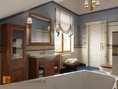 Фото: Ванная комната для мальчиков - Интерьер загородного дома в стиле легкой классики, КП «Альпино», 430 кв.м.