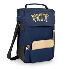 Duet Wine and Cheese Tote - Navy (University of Pittsburgh - Panthers) Digital Print