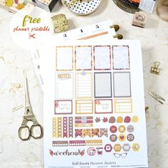 Watercolor Fall Leaves Planner Stickers | Free printable for the Mambi Happy Planner