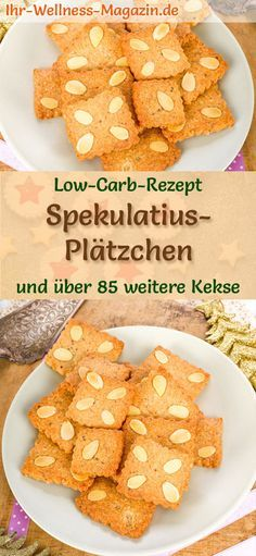 Low-carb Christmas biscuit recipe for speculoos cookies: Low-carb, low-calorie Christmas biscuits - baked without flour and sugar . What Is Healthy Eating, Speculoos Cookies, Christmas Biscuits, Christmas Cookies, Cheesecake, Low Carb Sweets, Biscuit Recipe, Paleo Dessert, Low Carb Recipes