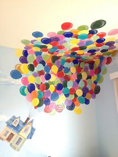 Murals - Disney Theme: Disney Pixar's UP- I really want to do this in my kid's room someday :)