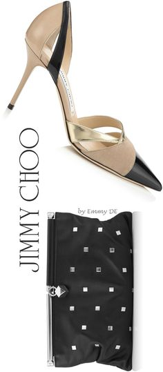 Brilliant Luxury by Emmy DE * Jimmy Choo ~ Perfect Pairings 2015 ~ Marcine Pointy Toe Pumps & Cadence Clutch Bag Fashion Shoes, Fashion Accessories, Glass Slipper, Jimmy Choo Shoes, Black High Heels, Shoe Closet, Clutch Bag, Me Too Shoes, Pumps