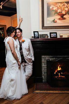 Valerie & Charlotte Garofalo lesbiancouple lesbian wedding love ...