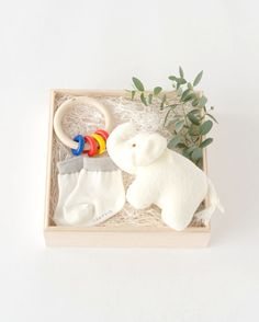 WELCOME BABY エレファントとリングリィリングのベビーギフトセット #COUPRIO #クプリオ #GIFT #ギフト #出産祝い